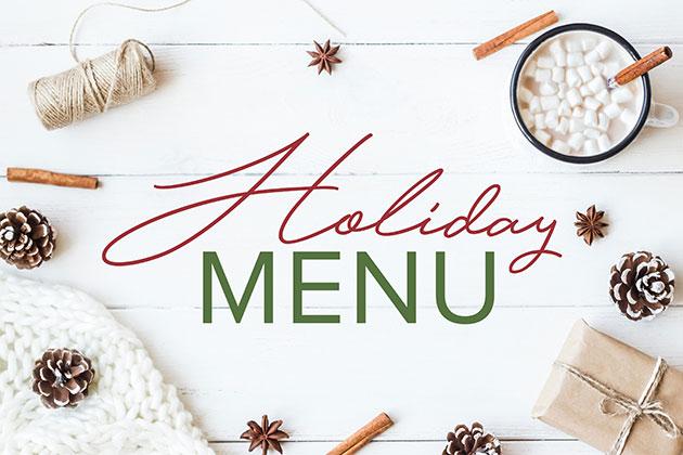 Holiday Menu Graphic