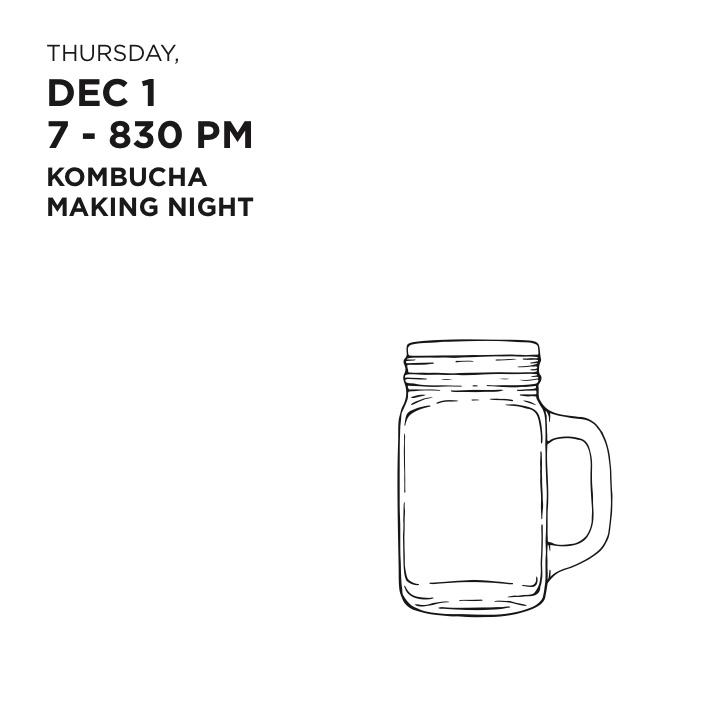 Brew It Yourself (BIY) Kombucha Night
