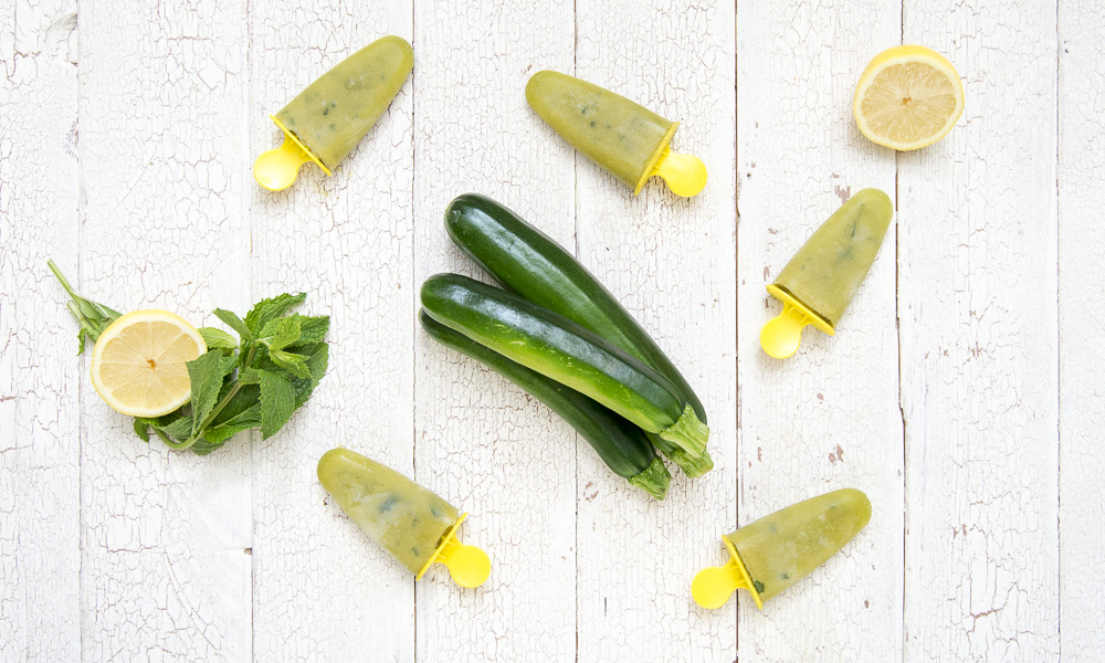 Keep Cool With Zucchini Mint Lemonade Ice Pops