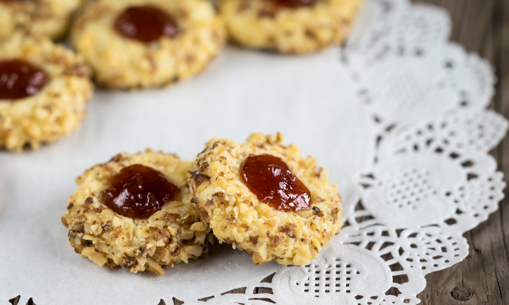 Easy Thumbprint Cookies With Low-Sugar Cherry Jam (Vegan + GF)